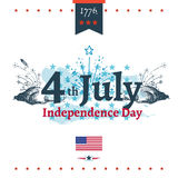Fourth of July Independence illustration. Fourth of July Independence  illustration Royalty Free Stock Image