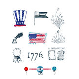 Fourth of July Independence illustration. Fourth of July Independence  illustration Stock Image