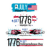 Fourth of July Independence illustration. Fourth of July Independence  illustration Royalty Free Stock Images