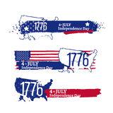 Fourth of July Independence illustration Stock Images