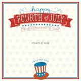Fourth of July Invitation Stock Photo