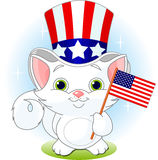 Fourth of July kitten Royalty Free Stock Photo