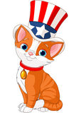 Fourth of July kitten. With top hat Stock Photos