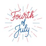 Fourth of July. Lettering logo for USA Independence Day celebration.  Royalty Free Illustration