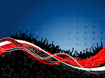 Fourth of july party background Royalty Free Stock Photography