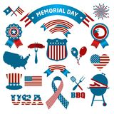 Fourth of July Party and memorial day icons. Fourth of July Party and memorial day Stock Photography