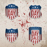 Fourth of July patriotic vector Banners Set Royalty Free Stock Photography