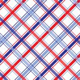 Fourth of July Plaid. Background illustration of red, white and blue plaid pattern Royalty Free Stock Image
