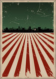 Fourth Of July Poster Background stock illustration