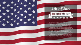 Fourth of July poster. Fourth of July background. Independence day greeting card. Vector template, isolated, eps10 Royalty Free Stock Photography