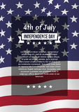 Fourth of July poster. Independence day greeting card. Vector template, isolated, eps10 Royalty Free Stock Photography