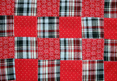 Fourth of July quilt stock image