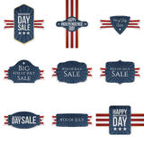 Fourth of July realistic Banners Set Royalty Free Stock Image