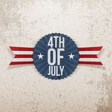Fourth of July realistic Emblem Royalty Free Stock Image