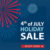 Fourth of July sale banner, vector Stock Image