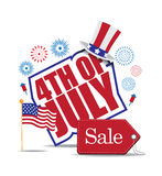 Fourth of July Sale icon EPS 10 vector Stock Photography