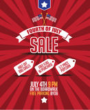 Fourth of july sale poster background. Stock Photo