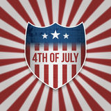 Fourth of July Sign Design Template Royalty Free Stock Images