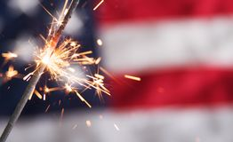 Fourth of July Sparkler Royalty Free Stock Photography