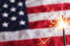 Fourth of July Sparkler Stock Image