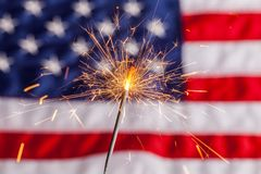 Fourth of July, Sparkler, Pyrotechnics Stock Photography