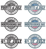 Fourth of July Stamps Royalty Free Stock Photos