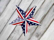 Fourth of July Star on rustic white wooden boards Stock Photography