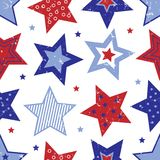 Fourth of July Stars Pattern Royalty Free Stock Photo