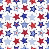Fourth of July Stars Pattern Royalty Free Stock Photography