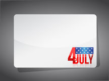 Fourth of july template illustration design Stock Photo