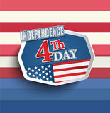 The fourth of July. 4th of july American independence day badges. Vector illustration royalty free illustration