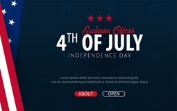 Fourth of July. 4th of July. Independence Day of the USA. Vector illustration. Fourth of July. 4th of July. Independence Day of the USA. Vector illustration vector illustration
