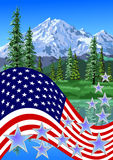 Fourth July,  theme of the mountains Royalty Free Stock Image