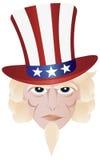 Fourth of July Uncle Sam Illustration Stock Images
