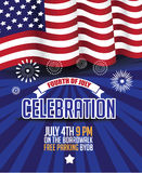 Fourth of July, United Stated independence day celebration template. Royalty Free Stock Photos