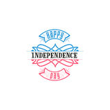 Fourth of July, United Stated independence day - Handmade template. Isolated vector object logo is a badge for your Royalty Free Stock Photos