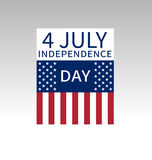 Fourth of July, United Stated independence day poster Stock Photography