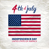 Fourth of July USA Independence Day greeting card. 4 th of July. United States of America celebration wallpaper. national holiday Royalty Free Stock Images