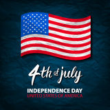 Fourth of July USA Independence Day greeting card. 4 th of July. United States of America celebration wallpaper. national holiday Royalty Free Stock Photos