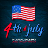 Fourth of July USA Independence Day greeting card. 4 th of July. United States of America celebration wallpaper. national holiday Stock Photos