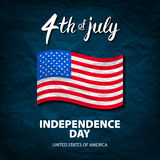 Fourth of July USA Independence Day greeting card. 4 th of July. United States of America celebration wallpaper. national holiday Stock Image