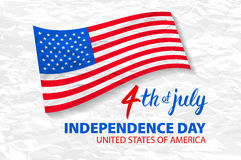 Fourth of July USA Independence Day greeting card. 4 th of July. United States of America celebration wallpaper. national holiday Stock Photography