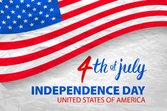 Fourth of July USA Independence Day greeting card. 4 th of July. United States of America celebration wallpaper. national holiday. US flag card design. art Royalty Free Stock Image