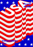 Fourth of July, USA Independence Day modern poster. Stock Photos