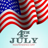 Fourth of July vector background. Royalty Free Stock Photo