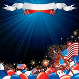 Fourth of July Vector illustration Royalty Free Stock Photo