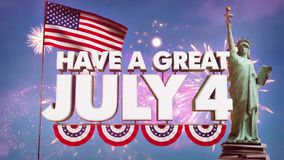 Fourth of July video animation - HD stock footage