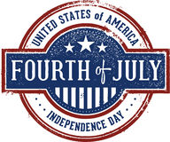 Fourth of July Vintage Sign Stock Photography