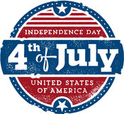 Fourth of July Vintage Sign Stock Image
