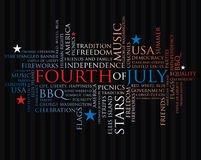 Fourth of july words Royalty Free Stock Image